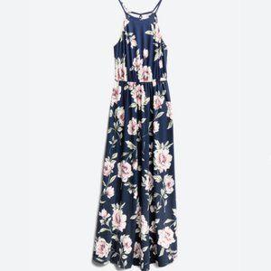 Floral Navy Blue Maxi Dress